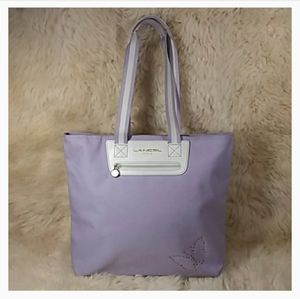 LANCEL PARIS FRENCH DESIGNER CANVAS TOTE
